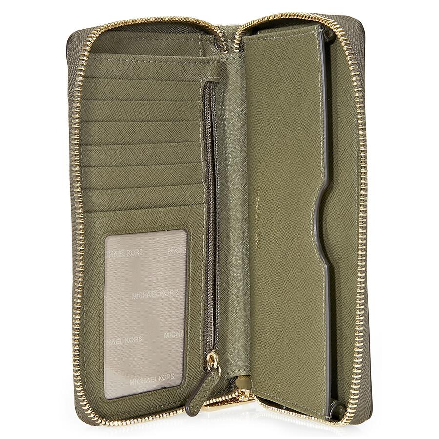 03f54f3fd98e Michael Kors Jet Set Travel Large Smartphone Wristlet - Olive - Jet ...