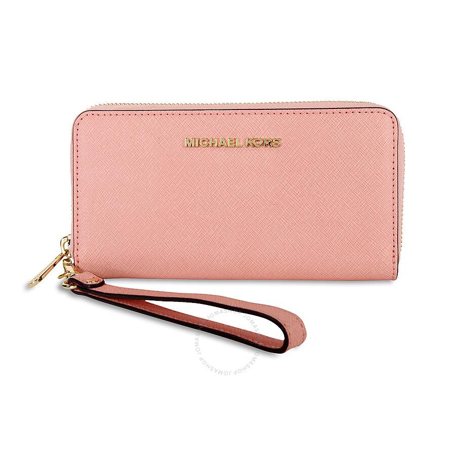 1ca62a97adf3b Michael Kors Jet Set Travel Large Smartphone Wristlet - Pale Pink Item No.  32T4GTVE3L-695