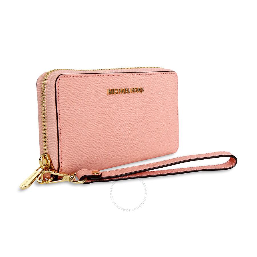 40e4b905caae7 Michael Kors Jet Set Travel Large Smartphone Wristlet - Pale Pink ...