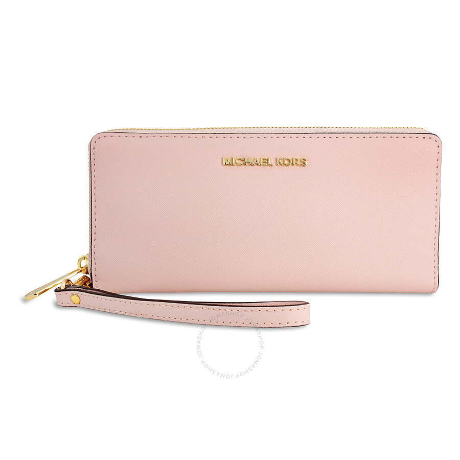 40f89df82dca Michael Kors Jet Set Travel Leather Continental Wallet - Blossom Item No.  32S5GTVE9L-656