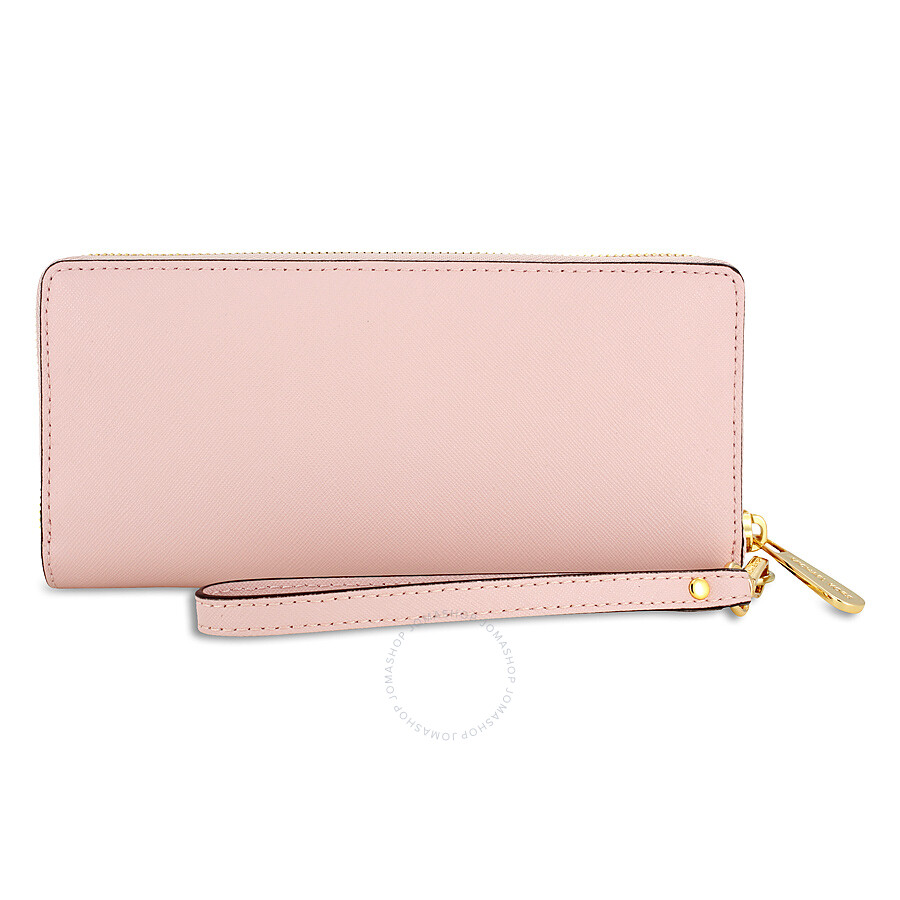 421cbf77da10c ... Michael Kors Jet Set Travel Leather Continental Wallet - Blossom ...