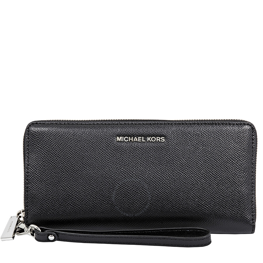 efb1d204867440 Michael Kors Jet Set Travel Leather Continental Wallet- Black Item No.  32S5STVE9L-001
