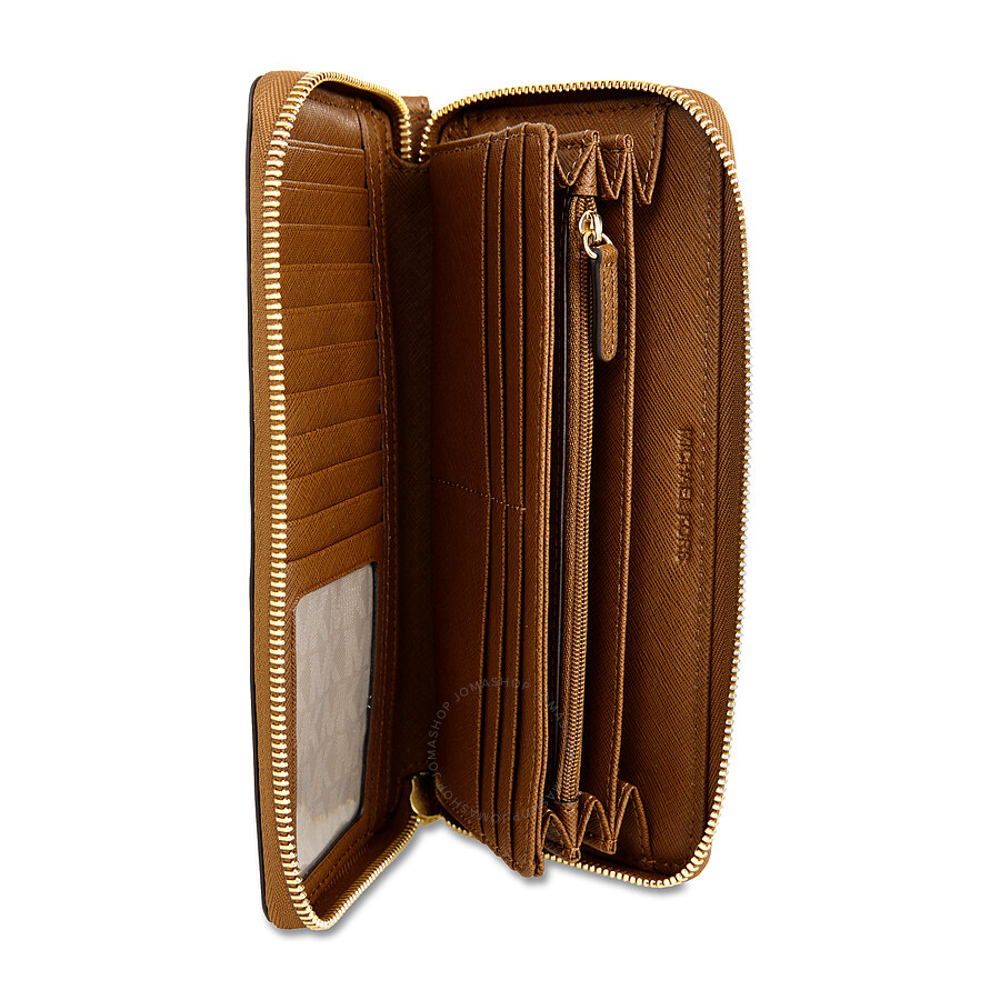 Michael Kors Jet Set Travel Leather Continental Wallet - Luggage ... c9527fd8e