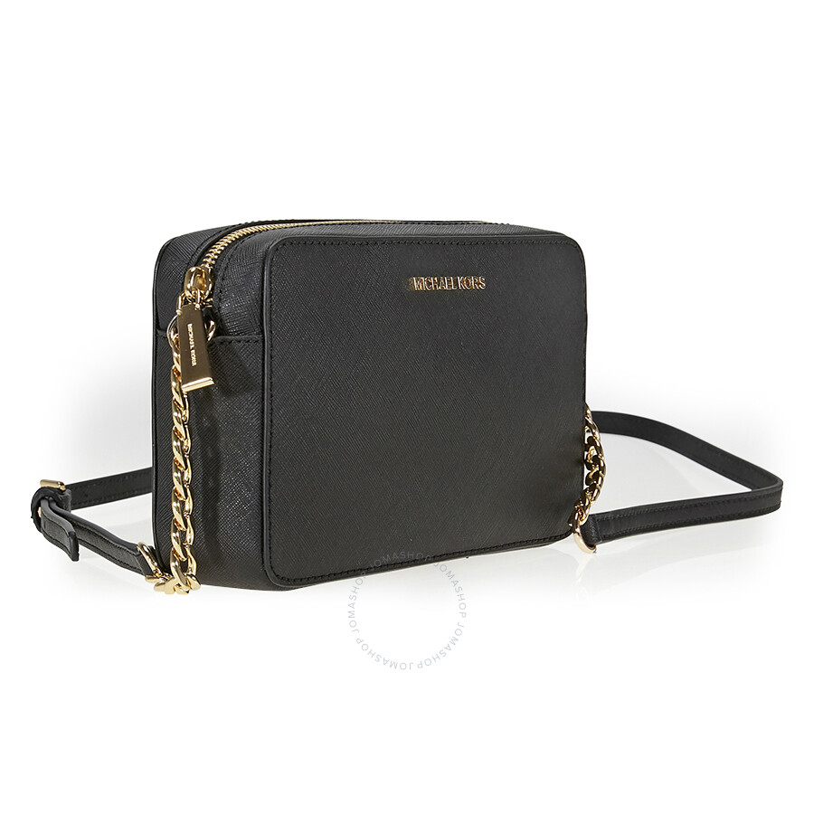 fcd5ba8b0c97 Michael Kors Jet Set Travel Medium Crossbody - Black - Jet Set ...