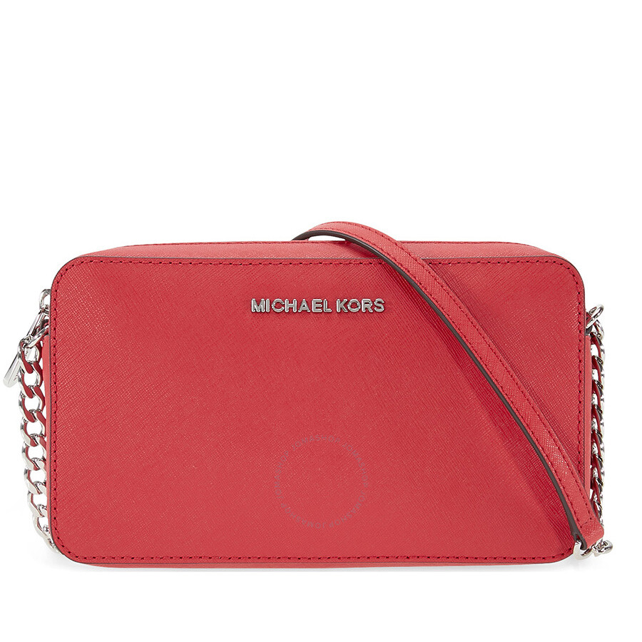 096c0ca376 Michael Kors Jet Set Travel Medium Crossbody - Bright Red - Jet Set ...