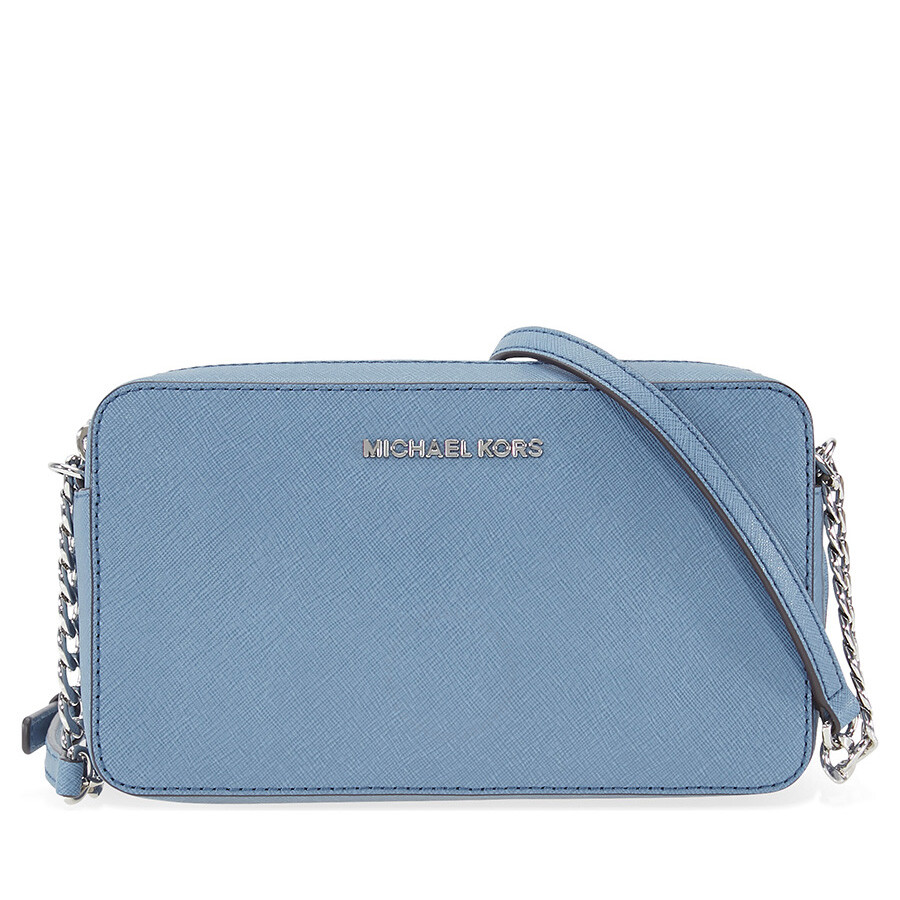 d19d2ae9e820 Michael Kors Jet Set Travel Medium Crossbody - Denim Item No.  MK32T6STVC6L-405