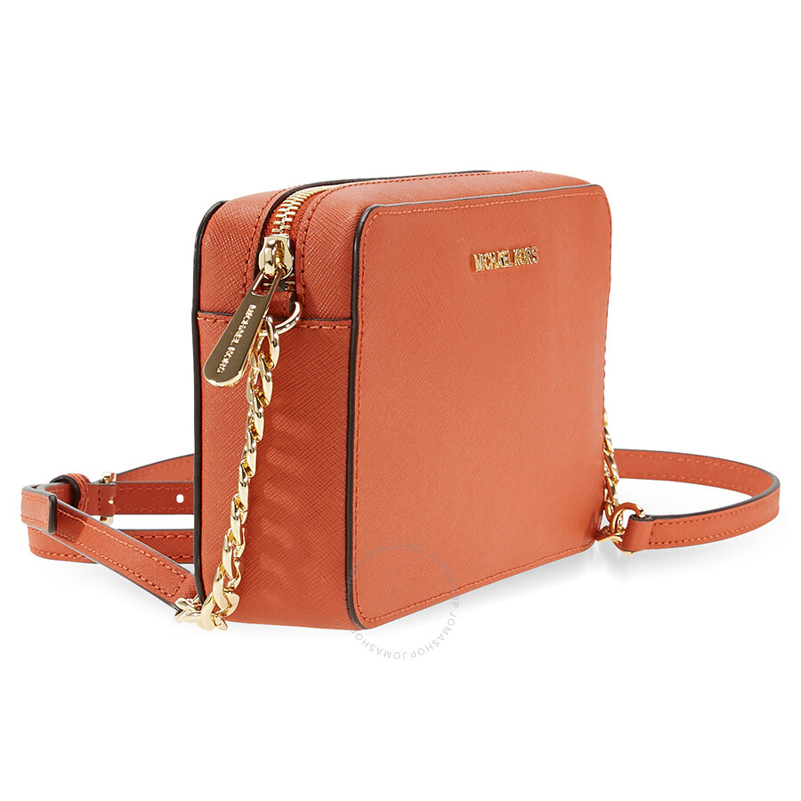 Michael Kors Crossbody Laukut : Michael kors jet set travel medium crossbody orange