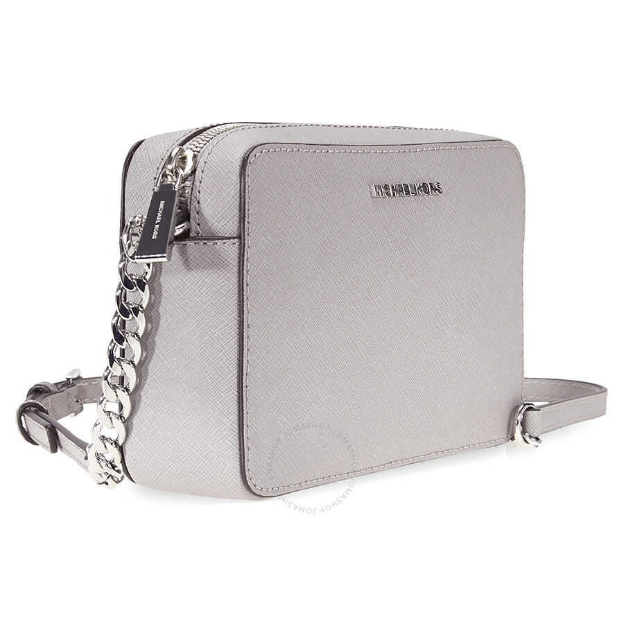 98acc617758a Michael Kors Jet Set Travel Medium Crossbody - Pearl Grey - Jet Set ...