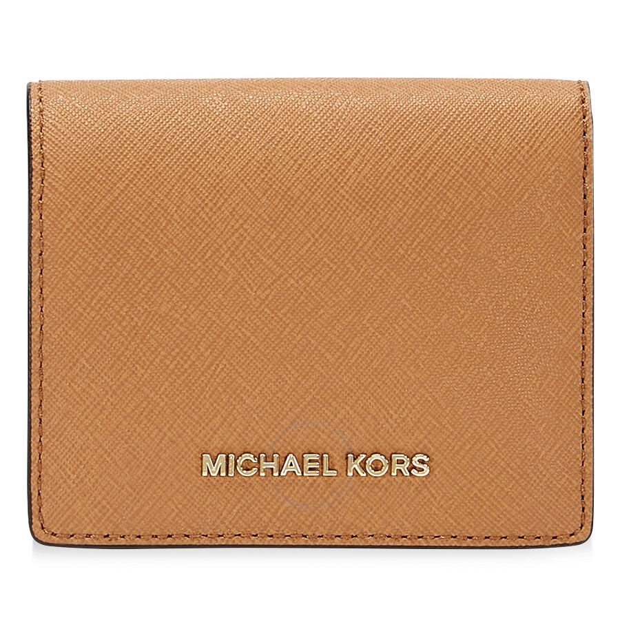 a3e28127b7c9 Michael Kors Jet Set Travel Saffiano Leather Card Holder - Acorn ...