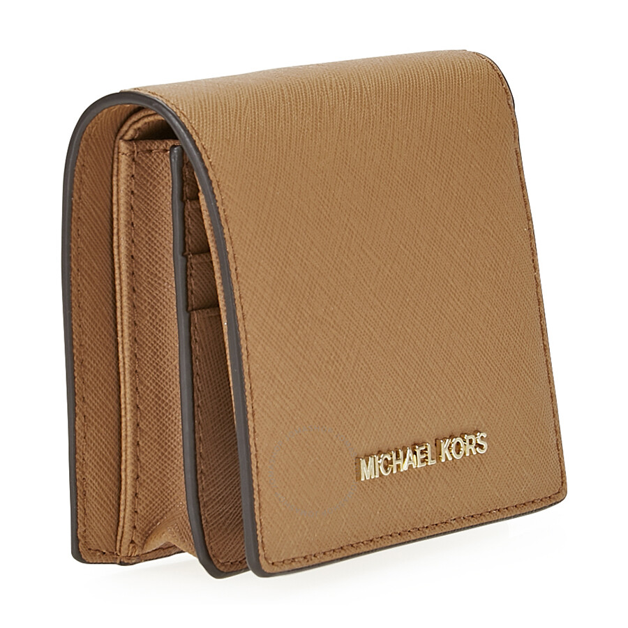 118dc57875de Michael Kors Jet Set Travel Saffiano Leather Card Holder - Acorn ...