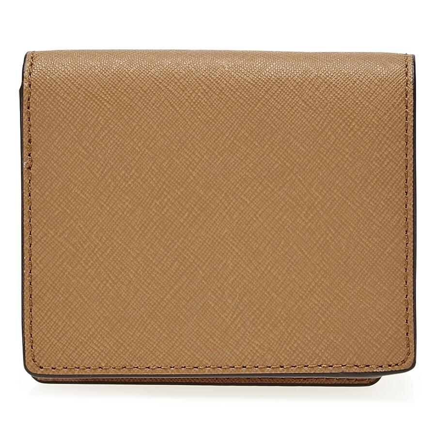 d47c5b96f065 Michael Kors Jet Set Travel Saffiano Leather Card Holder - Acorn ...