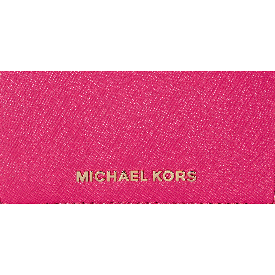 eb9bf1753f49 Michael Kors Jet Set Travel Saffiano Leather Card Holder - Ultra Pink