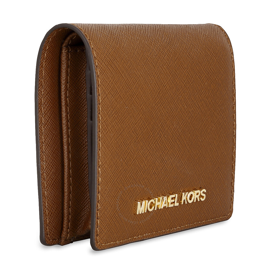28c89de77764 ... Michael Kors Jet Set Travel Saffiano Leather Card Holder - Luggage ...