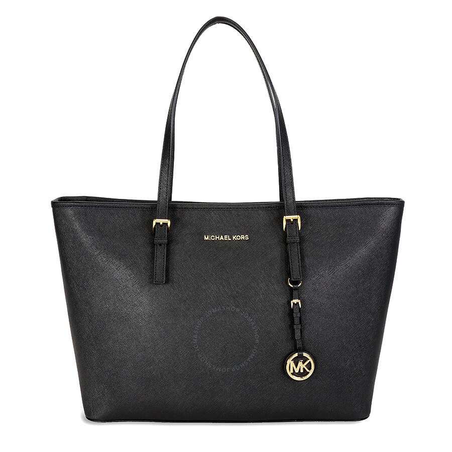 michael kors jet set medium travel saffiano leather tote black jet set michael kors. Black Bedroom Furniture Sets. Home Design Ideas