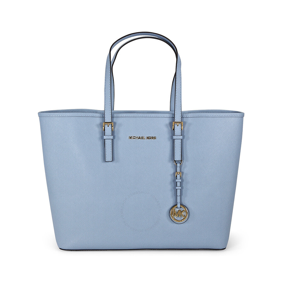 57bfc5e54c7831 Michael Kors Jet Set Travel Saffiano Leather Tote - Pale Blue Item No.  30H1GTVT2L-487