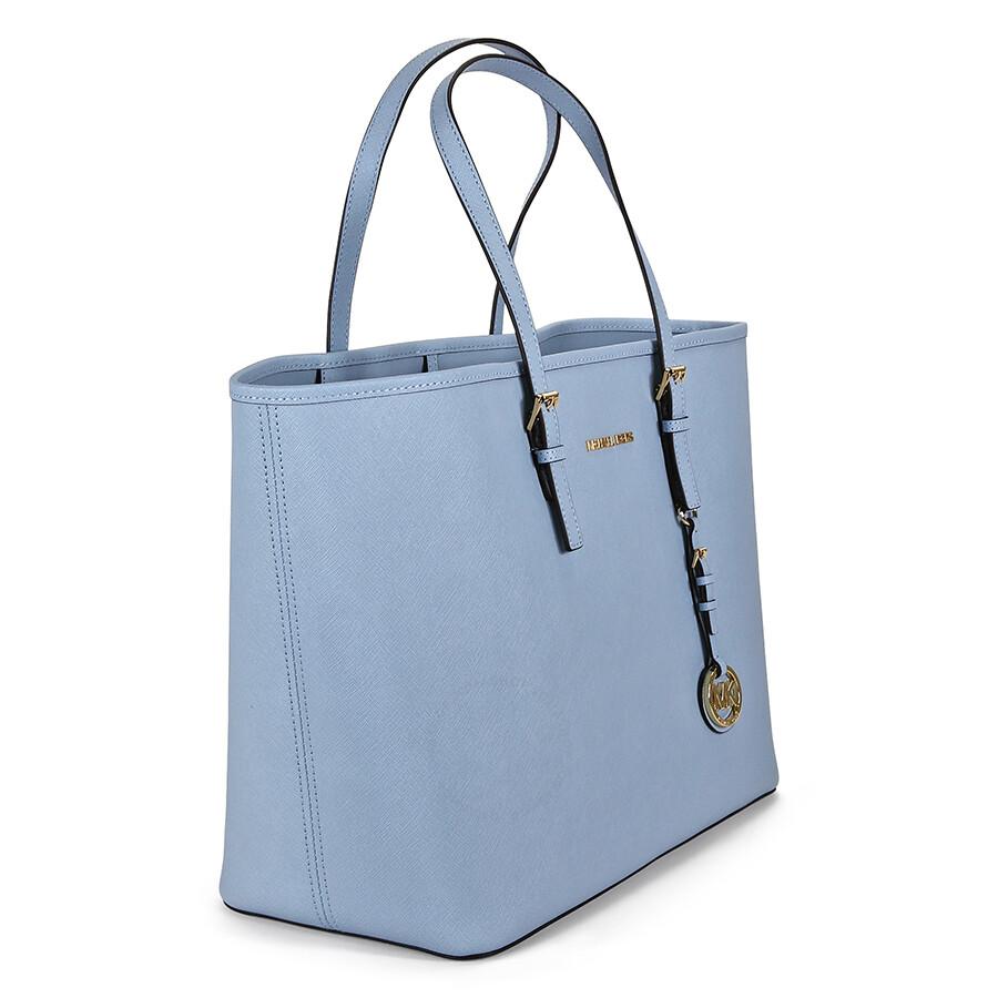 michael kors jet set travel saffiano leather tote pale blue jet set michael kors handbags. Black Bedroom Furniture Sets. Home Design Ideas
