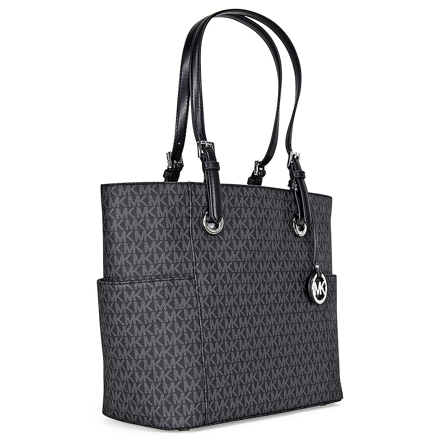 85b18e7be75b Michael Kors Jet Set Travel Small Logo Tote - Black - Jet Set ...