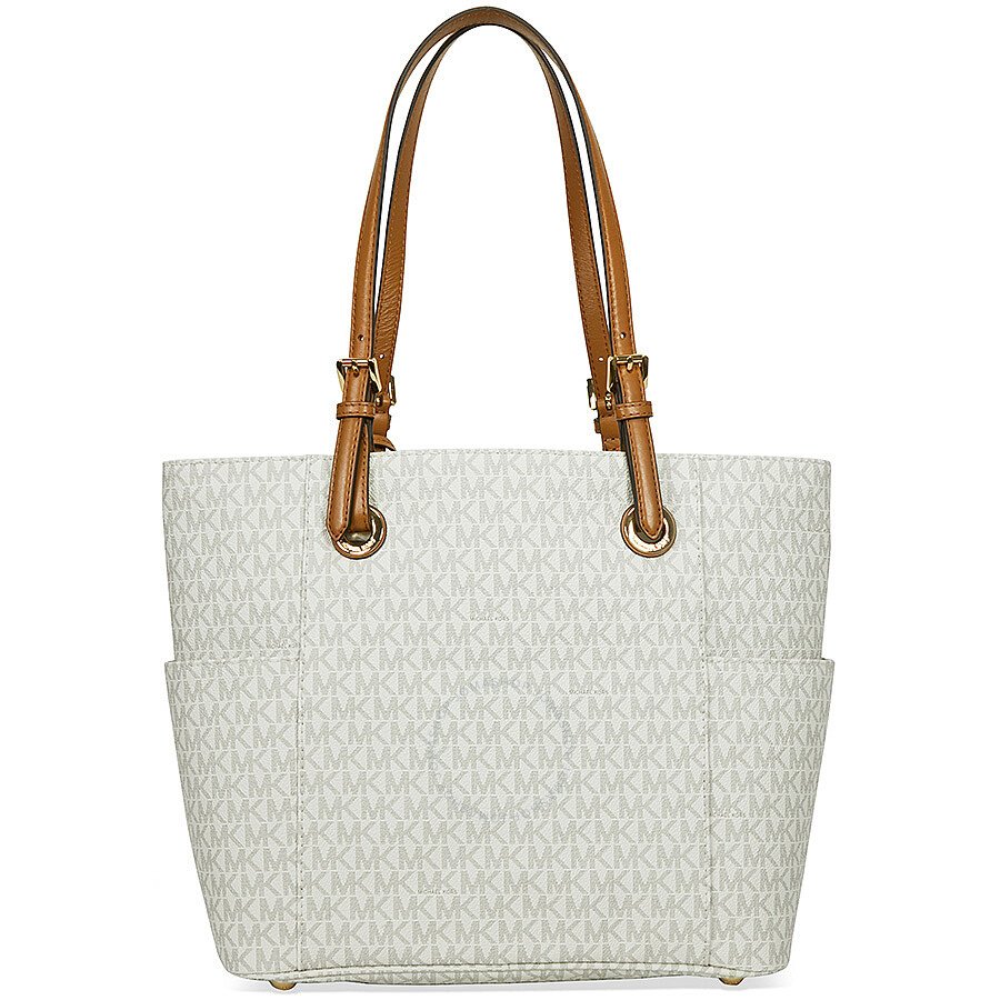 ff9a01406aab ... bag for women beige 22386 08a26; cheapest michael kors jet set travel  small logo tote vanilla 271c5 a8187