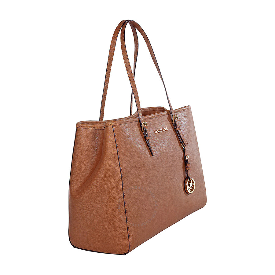 michael kors jet set travel tote large tote in luggage