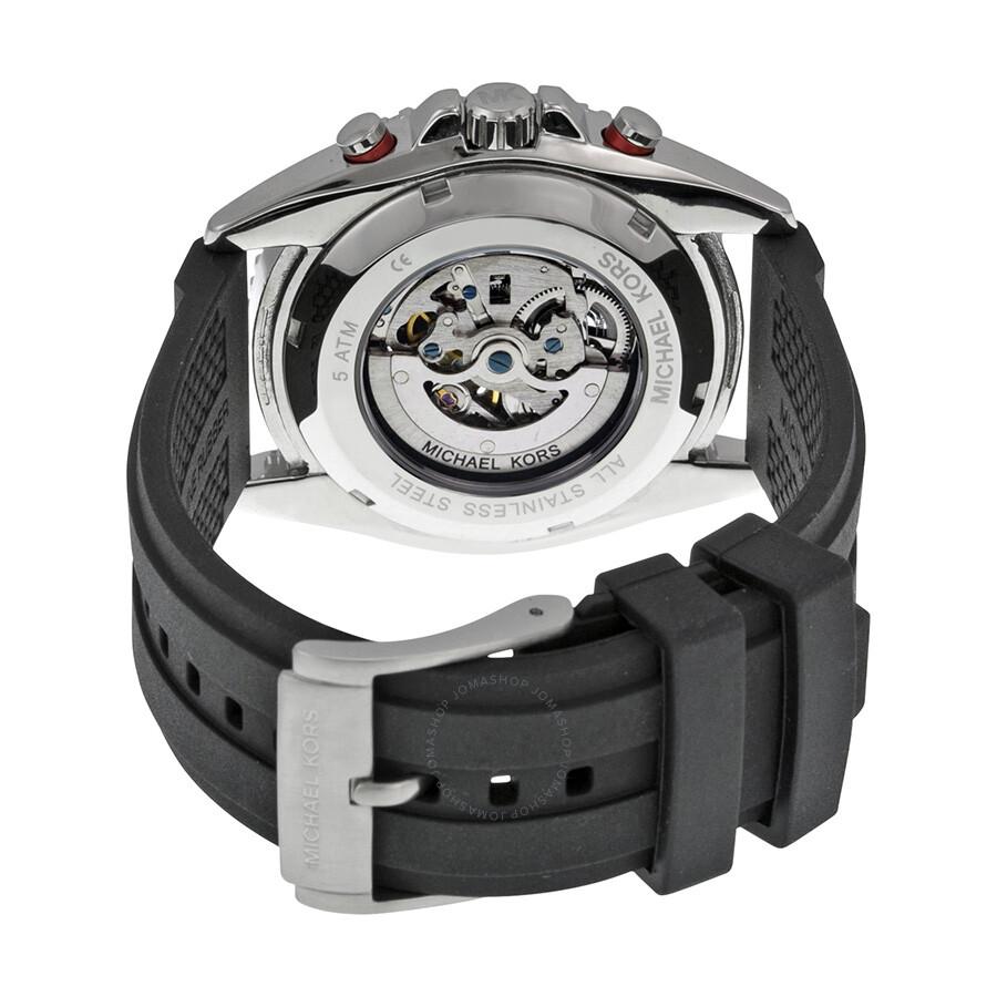516a00e3e1e8 ... Michael Kors JetMaster Automatic Black Dial Black SiliconeMen s Watch  MK9013