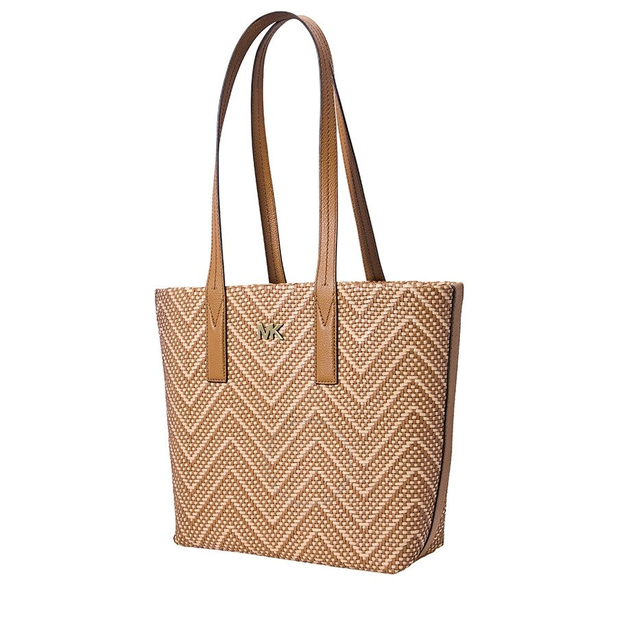 16bea884aa20 ... image or click to enlarge. Michael Kors Junie Chevron Medium Tote -Acorn Butternut