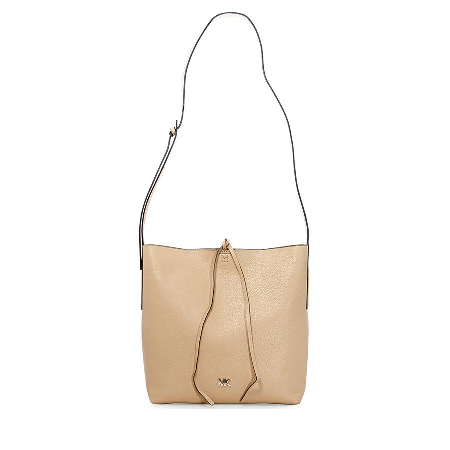 1e125df4000b Michael Kors Junie Large Pebbled Leather Messenger Bag- Butternut Item No.  30T8TX5M3L-106