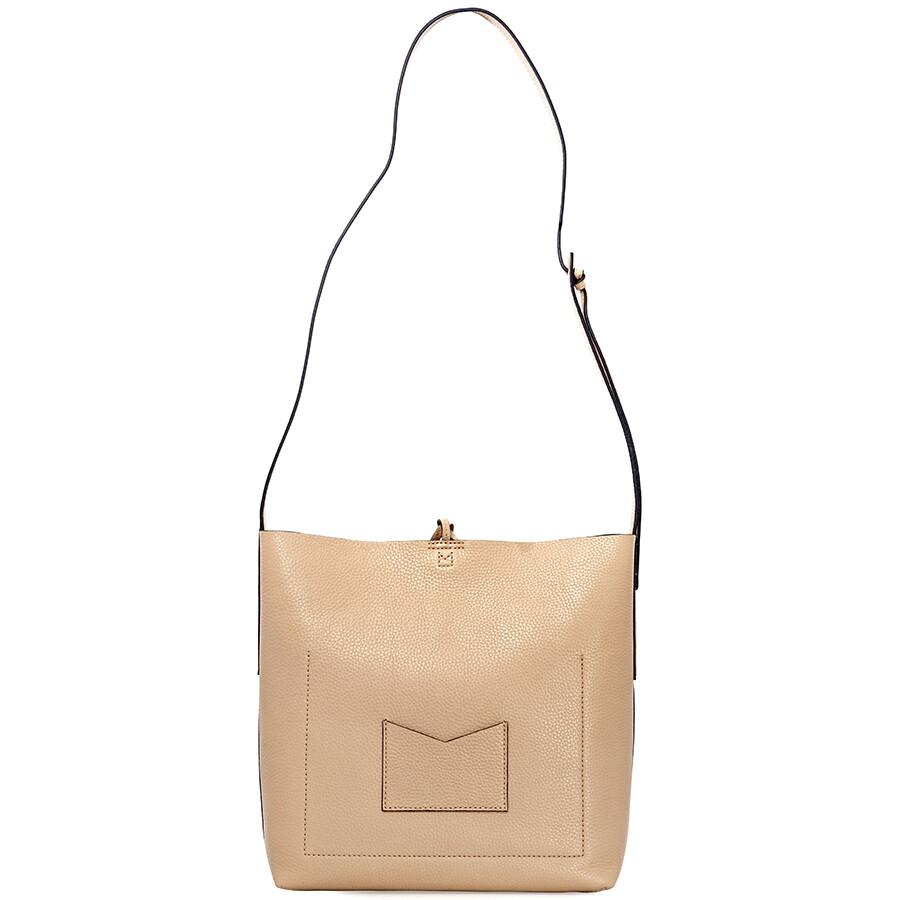 6b20c20f50b8 Michael Kors Junie Large Pebbled Leather Messenger Bag- Butternut ...