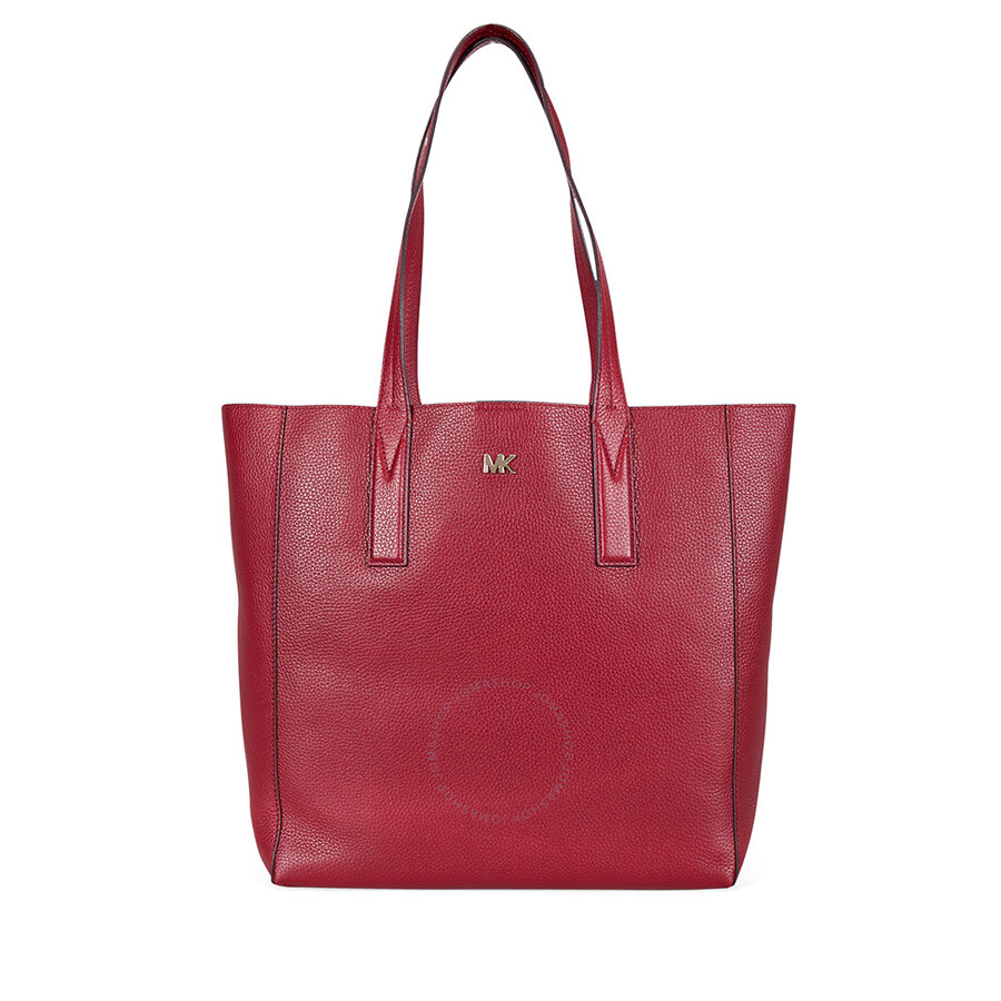 624ffcc49a3b26 Michael Kors Junie Large Pebbled Leather Tote - Maroon - Michael ...
