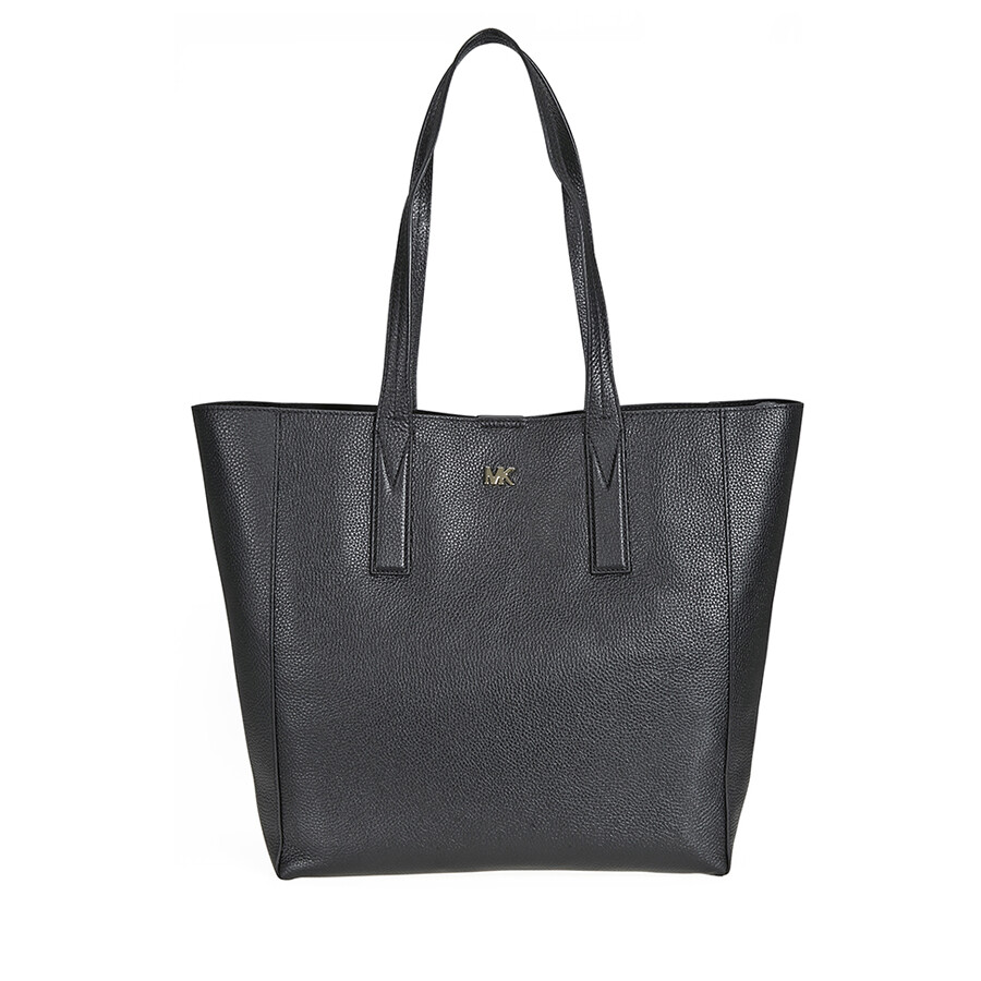 617905111a7d Michael Kors Junie Large Pebbled Leather Tote- Black - Michael Kors ...