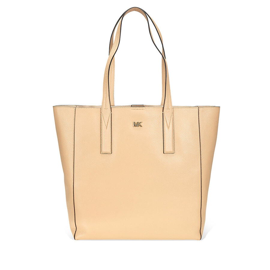 fdf0827bbdaa Michael Kors Junie Large Pebbled Leather Tote- Butternut - Michael ...