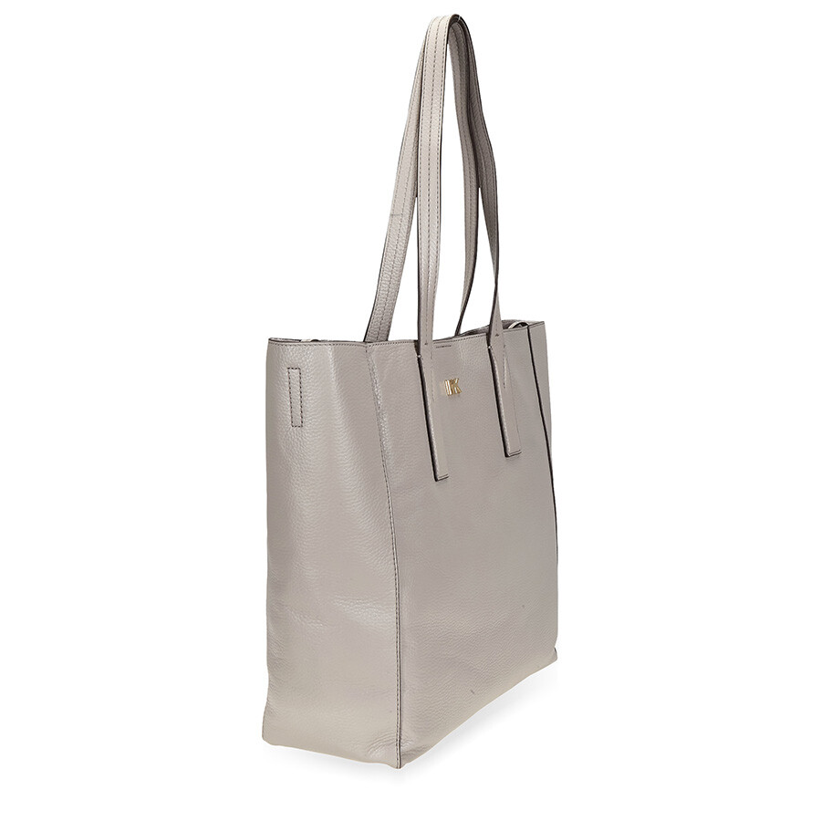 72e976058f96 Michael Kors Junie Large Pebbled Leather Tote- Pearl Grey - Michael ...