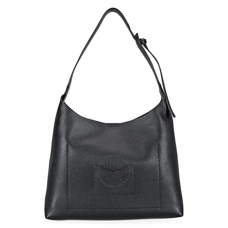 9b918f8c86de Michael Kors Junie Medium Leather Shoulder Bag - Black Item No.  30T8TX5H2L-001