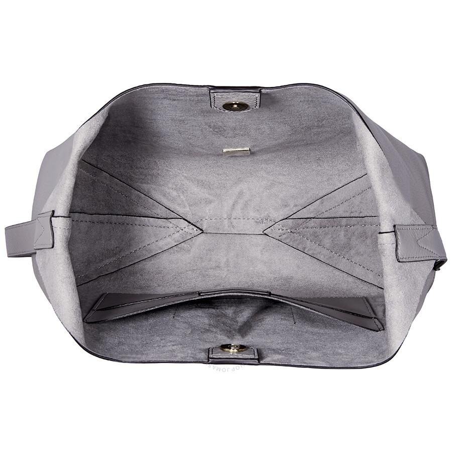 0fa72d662c5e Michael Kors Junie Medium Leather Shoulder Bag - Pearl Grey ...