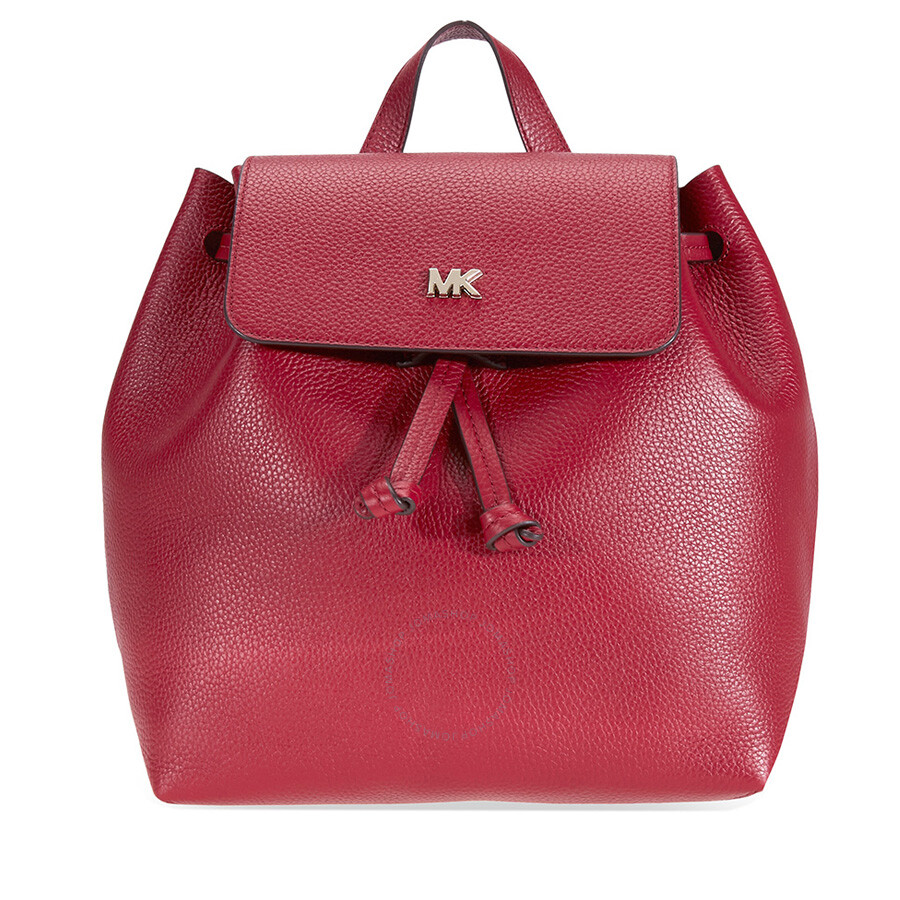 25e301b99309 Michael Kors Junie Medium Pebbled Leather Backpack - Maroon Item No.  30T8TX5B2L-550