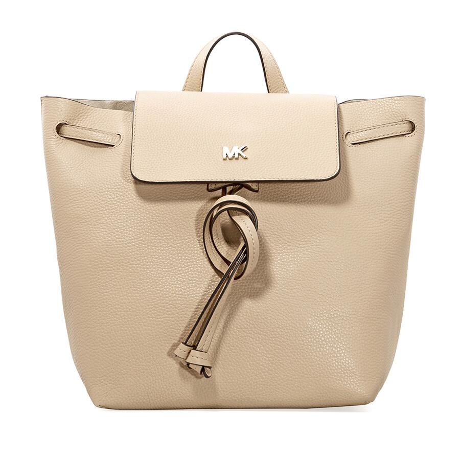 6403933029d781 Michael Kors Junie Medium Pebbled Leather Backpack- Butternut Item No.  30T8TX5B2L-106