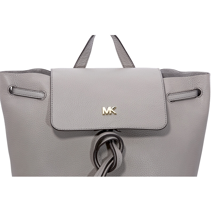 c91ddf3102a2 Michael Kors Junie Medium Pebbled Leather Backpack- Pearl Grey Item No.  30T8TX5B2L-081