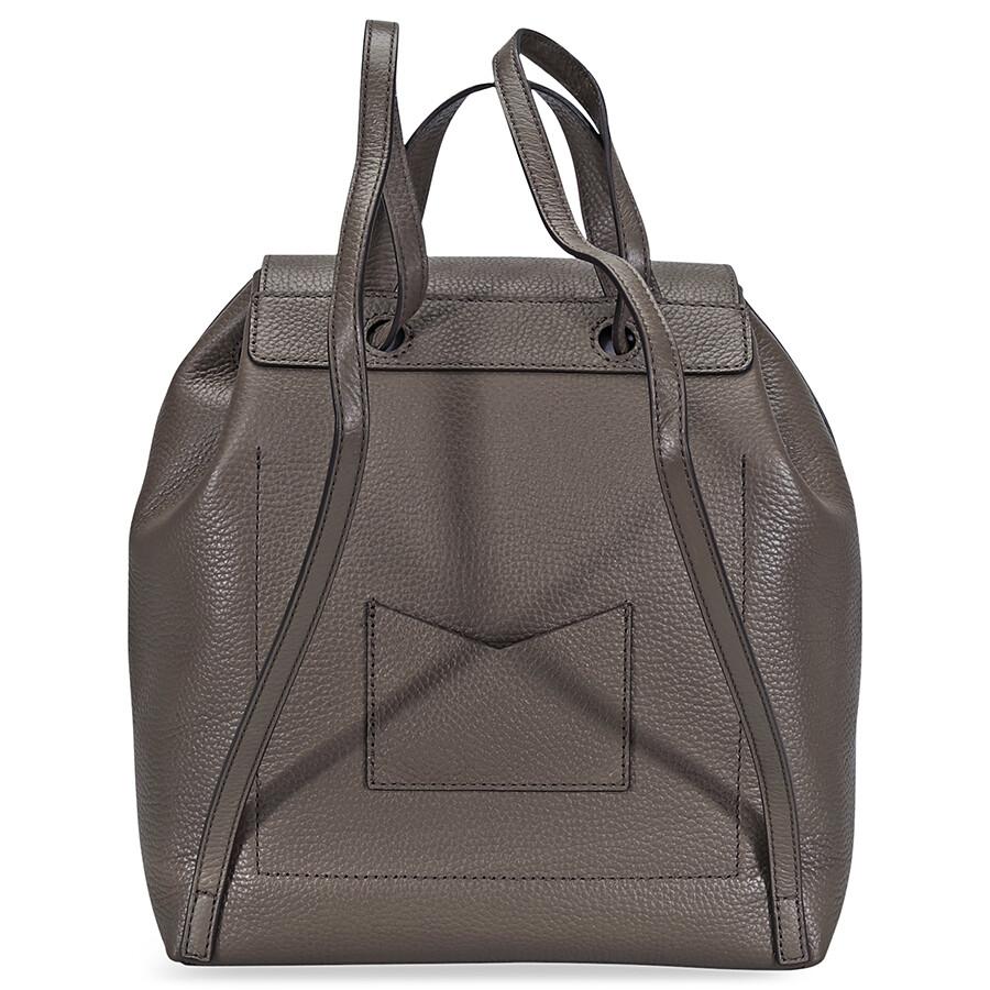 eb71393a4476 Michael Kors Junie Medium Pebbled Leather Backpack- Mushroom Item No.  30T8TX5B2L-250