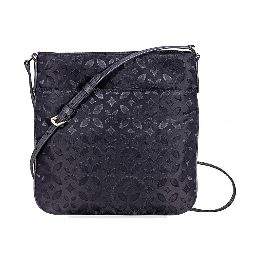 4631d10b407f Michael Kors Kelsey Large Floral Nylon Crossbody Bag- Black ...