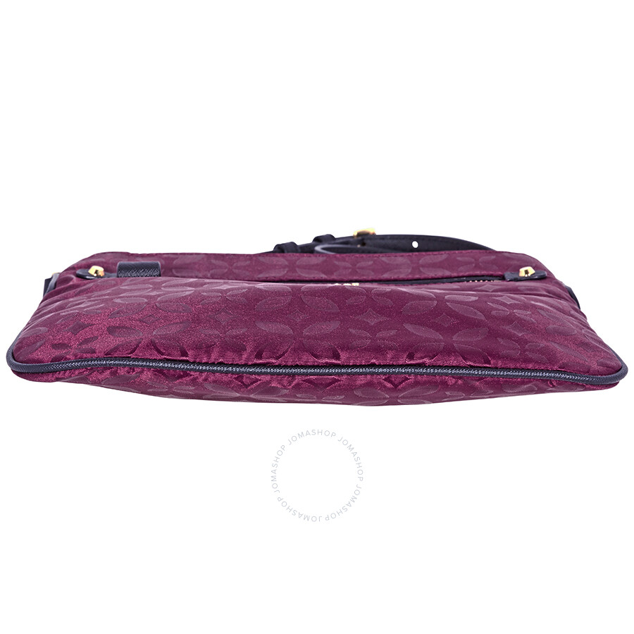 8d484f2328ed Michael Kors Kelsey Large Floral Nylon Crossbody Bag- Plum - Michael ...