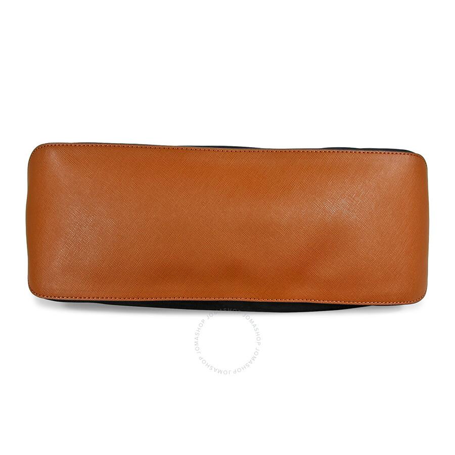 7321aeb7f0b5 Michael Kors Kempton Large North South Tote Handbag in Black ...