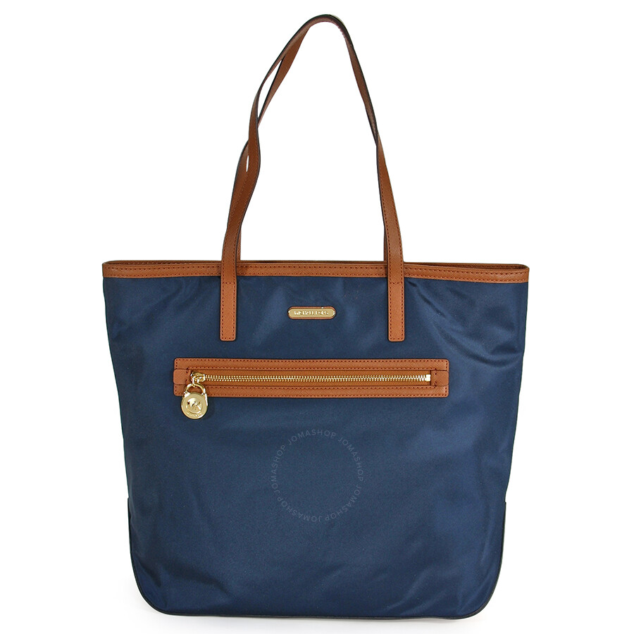 f2e9e6d14b6a Michael Kors Kempton Large North/South Tote Handbag in Navy Item No.  MKHB30T2GKPT3C-406