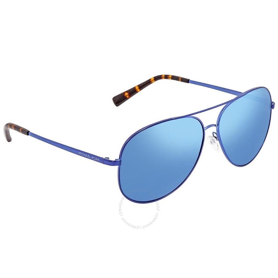 15a8e7cf988 Michael Kors Kendall Blue Mirror Aviator Sunglasses Item No.  MK5016-117355-60
