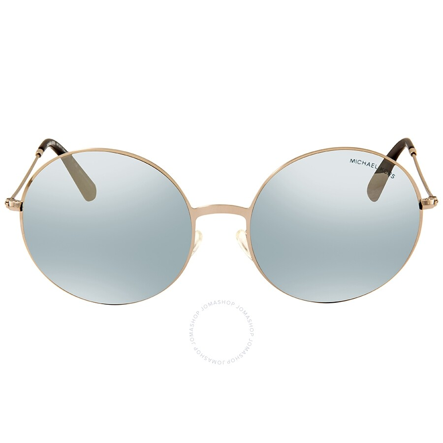7af8b4bfd00b1 ... Michael Kors Kendall II Silver Mirror Round Ladies Sunglasses  MK5017-10011U-55 ...