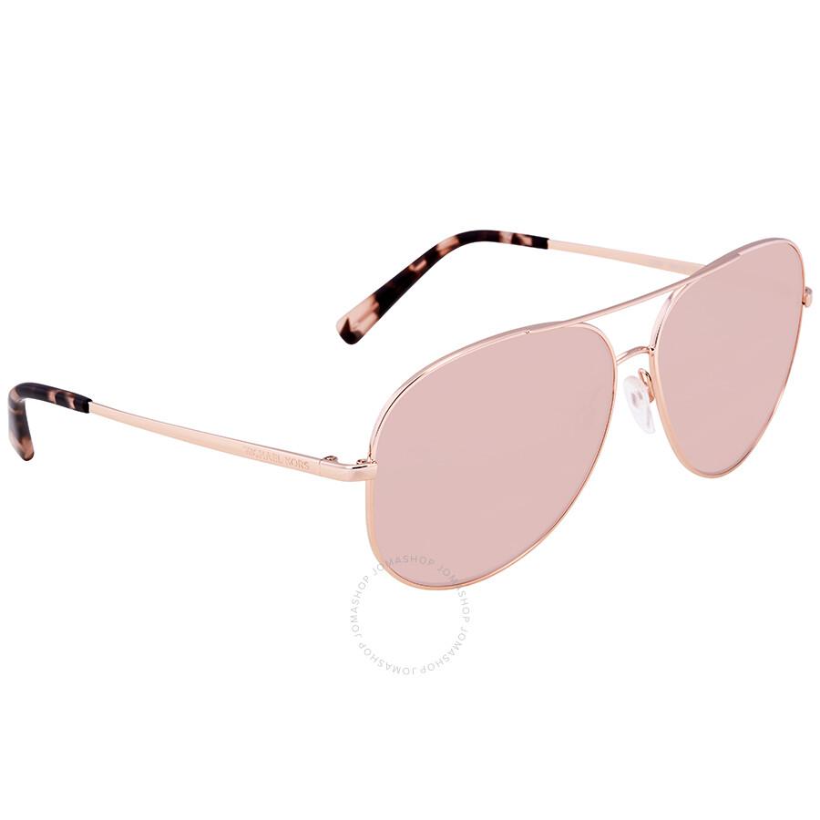35252411a591 Michael Kors Kendall Pink Solid Aviator Sunglasses MK5016 1026-5 60 ...