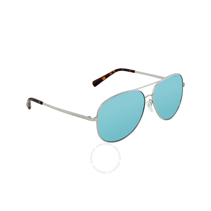147d9ee0343e Michael Kors Kendall Teal Solid Aviator Ladies Sunglasses 0MK5016 113765 60  ...