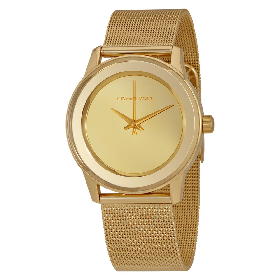 e560d6718e12 Michael Kors Kinley Gold Tone Dial Ladies Dress Watch MK6295 ...
