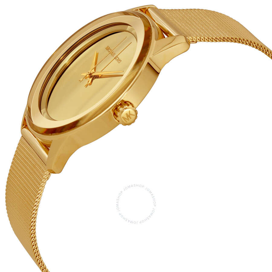 0920732bc46d ... Michael Kors Kinley Gold Tone Dial Ladies Dress Watch MK6295 ...