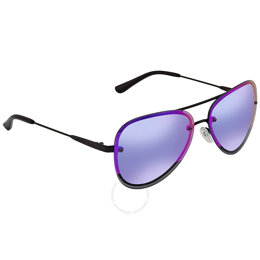 d5de751fa7be Michael Kors La Jolla Block Fuchsia Mirror Aviator Sunglasses MK1026 1169F1  59 ...