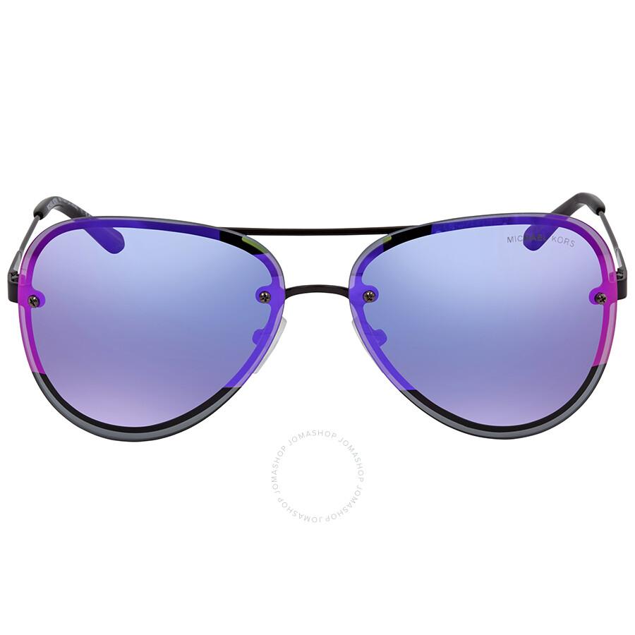 ba7f7366d118f ... Michael Kors La Jolla Block Fuchsia Mirror Aviator Sunglasses MK1026