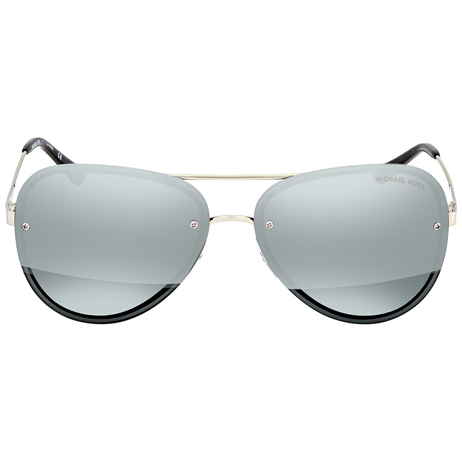 4b73acffc75d ... Michael Kors La Jolla Block Gunmetal Mirror Aviator Ladies Sunglasses  MK1026 11181Y 59 ...